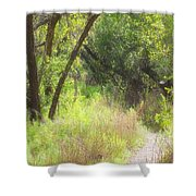 Buttonwood Forest Shower Curtain