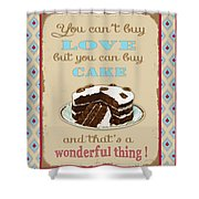 Buy Cake Typography Shower Curtain