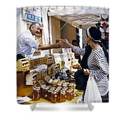 Buying Honey Shower Curtain