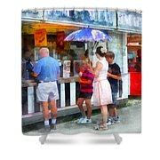 Buying Ice Cream At The Fair Shower Curtain