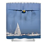 Buzzing The Crowd Shower Curtain