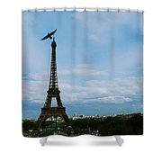 Buzzing The Tower Shower Curtain