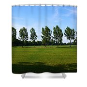 By A Canal Shower Curtain
