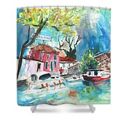 By A French Canal 01 Shower Curtain