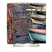 By A Nose Mykonos Greece Shower Curtain