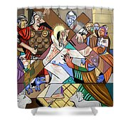 By My Wounds You Were Healed Shower Curtain