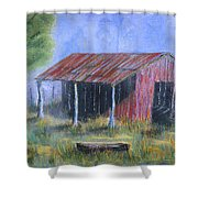 By The Barn Out Back Shower Curtain