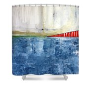 By The Bay- Abstract Art Shower Curtain