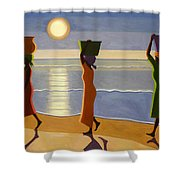 By The Beach Shower Curtain