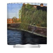 By The Canal - Leuven Belgium Shower Curtain