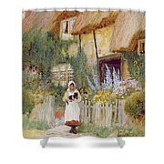 By The Cottage Gate  Shower Curtain