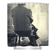 By The Fire Shower Curtain