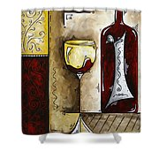 By The Fireside Original Madart Painting Shower Curtain