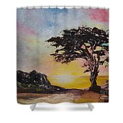 By The Golden Sea Shower Curtain