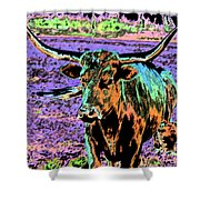 By The Horns Shower Curtain