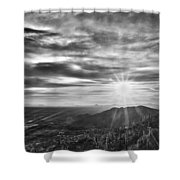 By The Light Of God Shower Curtain