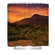 By The Light Of The Sunset Shower Curtain