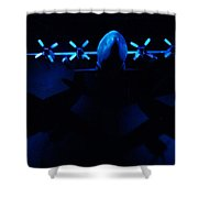 By The Light Of The Twin Moons Shower Curtain