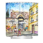 By The Old Cathedral In Cartagena 01 Shower Curtain