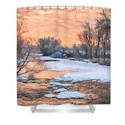 By The Old Mill Shower Curtain