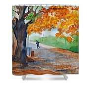 By The Rideau Canal Shower Curtain