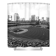 By The Right Field Foul Pole Bw Shower Curtain