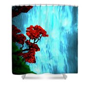 By The Waterfalls Shower Curtain