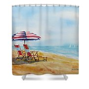 By The Waterfront Shower Curtain