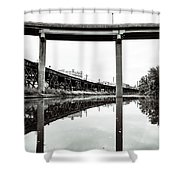 By Train Boat Or Automobile Shower Curtain
