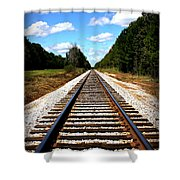 Never Ending Tracks Shower Curtain