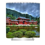 Byodo Temple Shower Curtain