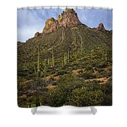 Byous Butte Shower Curtain