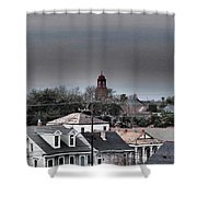 Bywater Rooftops Shower Curtain