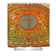 Byzantine Mosaic Shower Curtain