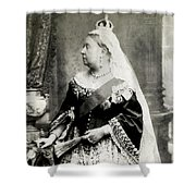 C. 1880 Her Majesty Queen Victoria Shower Curtain