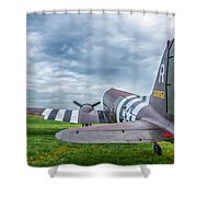 C-47-w7 7d06 Shower Curtain