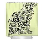 C Is For Cat Shower Curtain