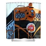 C N R Train 906 Rustic Shower Curtain