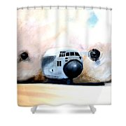 C130 Landing In A Sandstorm Air Force Military Shower Curtain