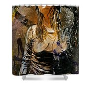 C215 Beautiful Model Shower Curtain