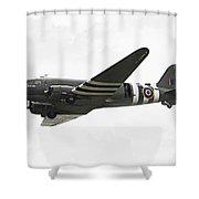 C47 Skytrain Shower Curtain