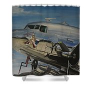 C47b Skytrain Bluebonnet Belle  Warbird 1944 Shower Curtain