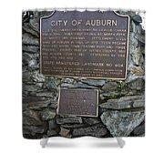 Ca-404 City Of Auburn Shower Curtain