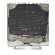 Ca-628-629 Alpha And Omega Shower Curtain
