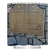 Ca-843 North Star Mine Powerhouse Shower Curtain