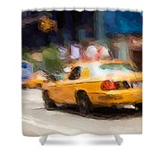 Cab Ride Shower Curtain
