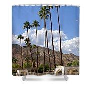 Cabanas Palm Springs Shower Curtain