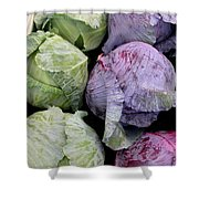 Cabbage Friends Shower Curtain