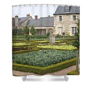 Cabbage Garden  Chateau Villandry Shower Curtain
