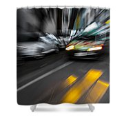 Cabbie Too Fast Shower Curtain